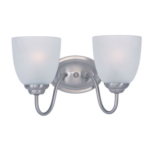 Stefan Satin Nickel Two-Light Bath Vanity