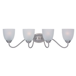 Stefan Satin Nickel Four-Light Bath Vanity