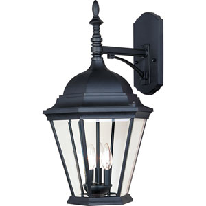 Westlake Black Three-Light Outdoor Wall Mount