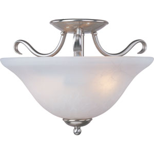 Basix Satin Nickel Semi-Flush Ceiling Light
