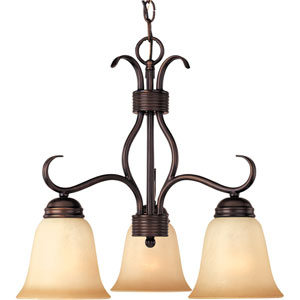 Basix Oil Rubbed Bronze Three-Downlight Chandelier
