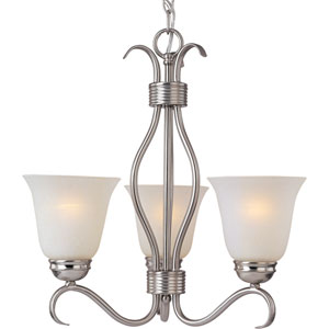 Basix Satin Nickel Three-Light Chandelier