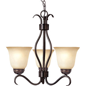 Basix Oil Rubbed Bronze Three-Light Chandelier