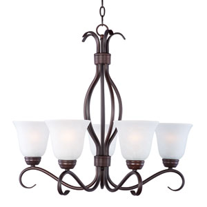 Basix Oil Rubbed Bronze Five-Light Single-Tier Chandelier