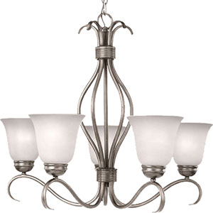 Basix Satin Nickel Five-Light Chandelier