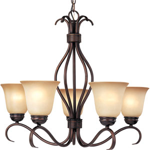Basix Oil Rubbed Bronze Five-Light Chandelier