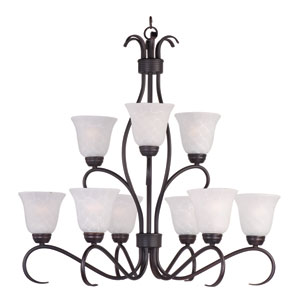 Basix Oil Rubbed Bronze Nine-Light Chandelier
