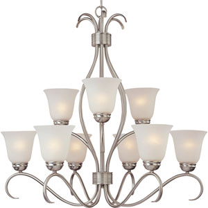 Basix Satin Nickel Nine-Light Chandelier