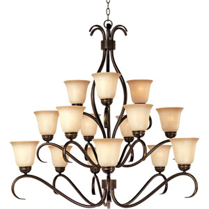 Basix Oil Rubbed Bronze Fifteen-Light Chandelier