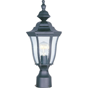 Madrona Black One-Light Outdoor Post