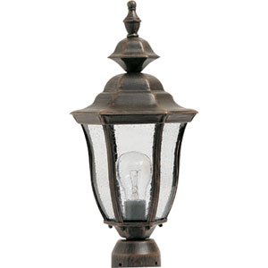 Madrona Rust Patina One-Light Outdoor Post