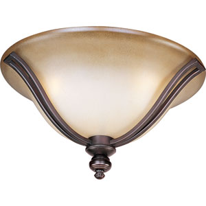Madera Oil Rubbed Bronze Three-Light Flush Mount
