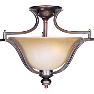 Madera Oil Rubbed Bronze Three-Light Semi-Flush Mount
