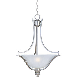 Madera Satin Silver Three-Light Pendant