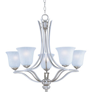 Madera Satin Silver Five-Light Chandelier