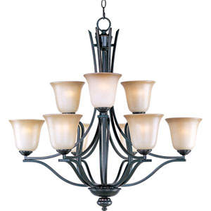 Madera Oil Rubbed Bronze Nine-Light Multi-Tier Chandelier