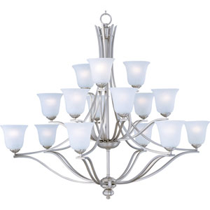 Madera Satin Silver Fifteen-Light Chandelier