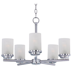 Corona Satin Nickel Five-Light Single-Tier Chandelier