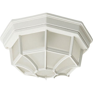 Crown Hill White Two-Light Outdoor Flushmount