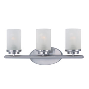 Corona Satin Nickel Three-Light Bath Vanity