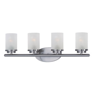 Corona Satin Nickel Four-Light Bath Vanity