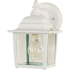 Builder Cast White One-Light Outdoor Wall Lantern