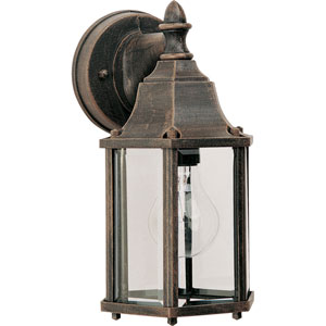 Builder Cast Rust Patina One-Light Five-Inch Outdoor Wall Sconce