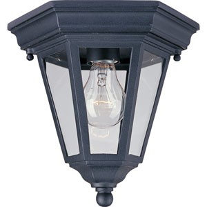 Westlake Black One-Light Outdoor Flushmount