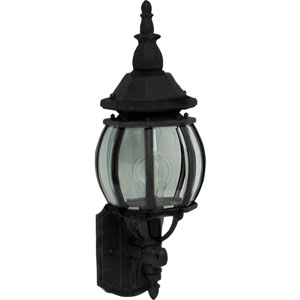 Crown Hill Black One-Light Outdoor Wall Lantern