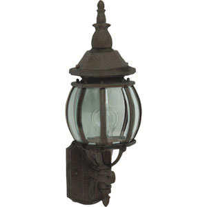 Crown Hill Rust Patina One-Light Outdoor Wall Lantern