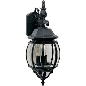 Crown Hill Black Three-Light Outdoor Wall Lantern