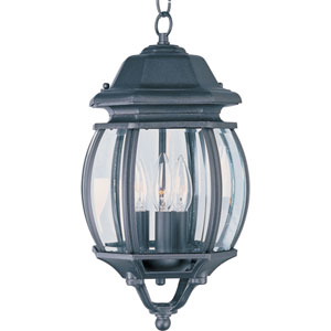 Crown Hill Black Three-Light Outdoor Hanging Lantern