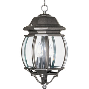 Crown Hill Rust Patina Three-Light Outdoor Hanging Lantern