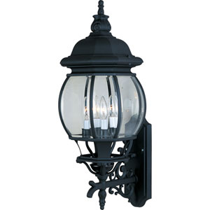 Crown Hill Black Four-Light Outdoor Wall Mount