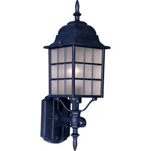 North Church Black One-Light Nineteen-Inch Outdoor Wall Sconce