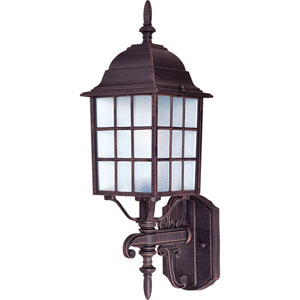 North Church Rust Patina One-Light Nineteen-Inch Outdoor Wall Sconce
