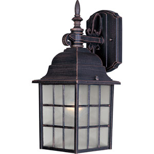 North Church Rust Patina One-Light Fourteen-Inch Outdoor Wall Sconce