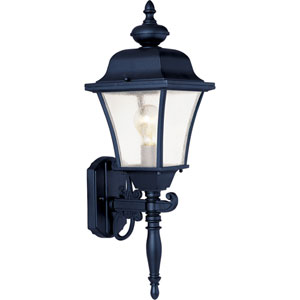 Senator Black One-Light Outdoor Wall Lantern