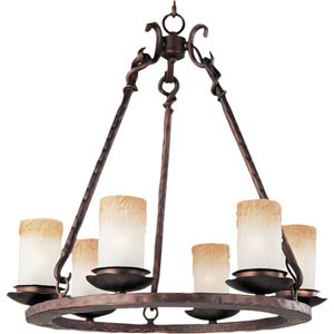 Notre Dame Oil Rubbed Bronze Six-Light Chandelier