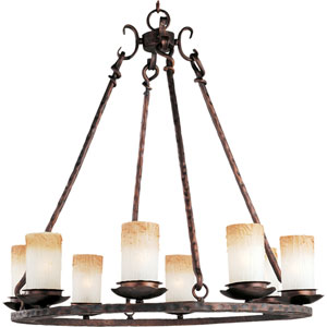 Notre Dame Oil Rubbed Bronze Eight-Light Chandelier