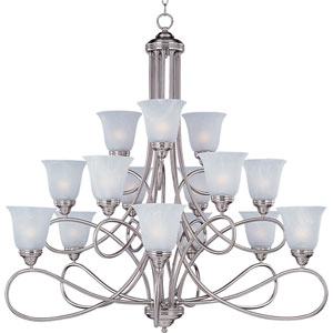 Nova Satin Nickel Fifteen-Light Chandelier