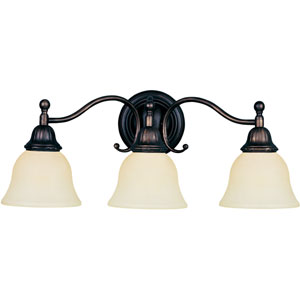 Soho Oil Rubbed Bronze Three-Light Wall Sconce