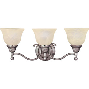 Soho Satin Nickel Three-Light Wall Sconce
