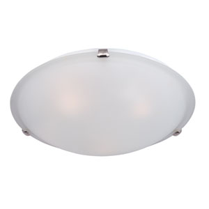 Malaga Satin Nickel Four-Light Flushmount