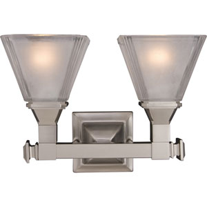 Brentwood Satin Nickel Two-Light Bath Fixture