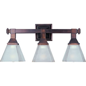 Oil Rubbed Bronze Three-Light Bath Fixture