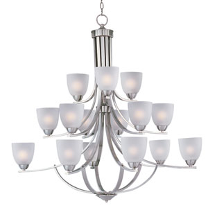 Axis Satin Nickel 15-Light Multi-Tier Chandelier