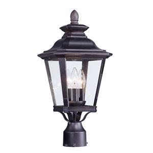 Knoxville Bronze Nine-Inch Three-Light Outdoor Post