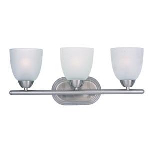 Axis Satin Nickel Three-Light Bath Vanity