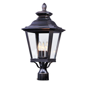 Knoxville Bronze 11-Inch Three-Light Outdoor Post